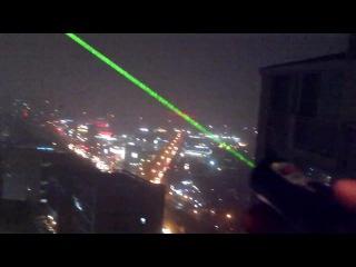 Мощный зелёный лазер