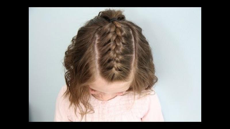 Single French Braid Back Short Hair Cute Girls Hairstyles