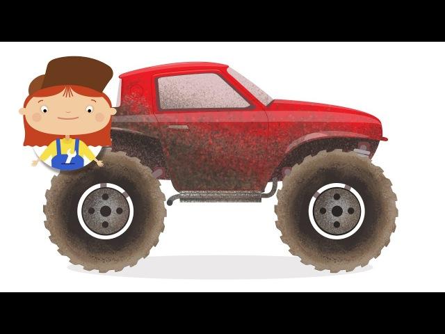 La Dottoressa Mac Wheelie e un fuoristrada Autolavaggio di McWheelie Cartoni animati per piccoli