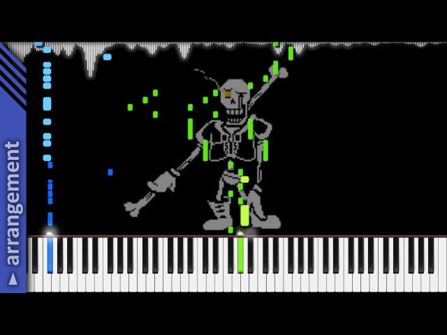 Undertale AU DISBELIEF Papyrus's Genocide Route Theme LyricWulf Piano Tutorial on Synthesia