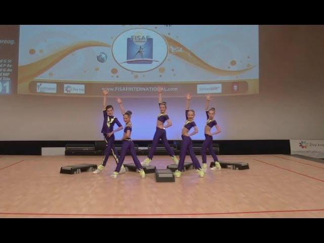 FISAF Fitness Sports Aerobics European Championships 2017. SF cadet Petite Step: Zhiguli (RUS)