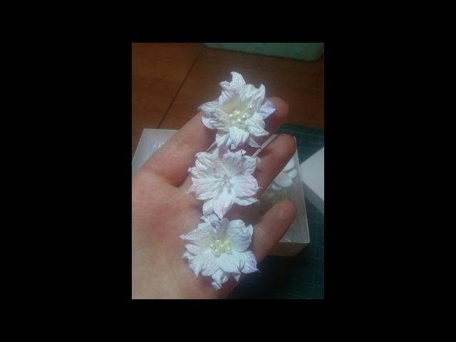 МК нежные цветы из акварельной бумаги Скрапбукинг