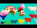 How to make Play Doh Peppa Pig Cake like real food play dough video for kids
