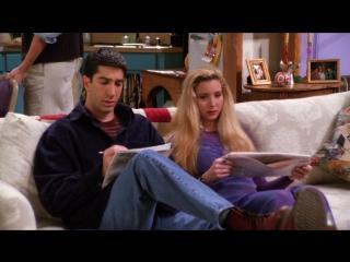 Росс и Фиби разгадывают кроссворд. Отрывок из Друзья Full-HD 1080p #радиатор #рдтр #пять букв