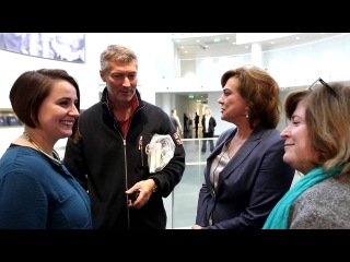 Светлана Сорокина, Анна Качкаева и студенты Школы медиаграмотности в Музее Б.Н. Ельцина