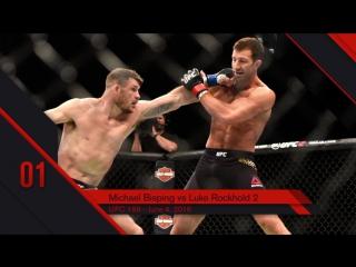 UFC Top 10 KOs of 2016 #1 Michael Bisping KO Luke Rockhold