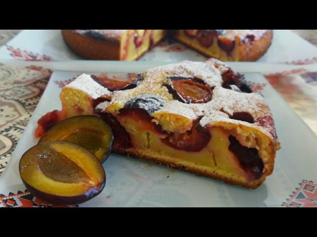 Безумно вкусный Сливовый Пирог Пирог со Сливой без возни