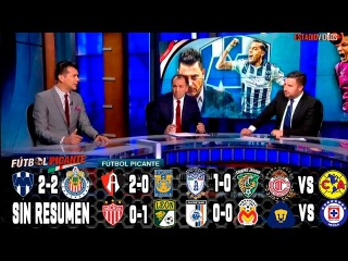 Fútbol Picante: Monterrey vs Chivas 2017 2-2, Atlas vs Tigres 2-0 Necaxa vs Leon Pachuca vs Jaguares