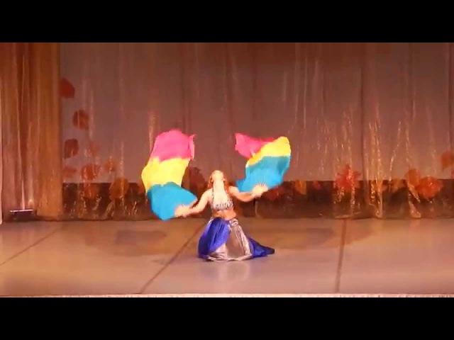 Анна Ермоленко - шоу-номер с вейлами