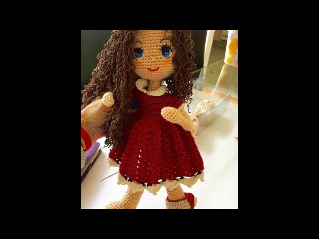 Como tejer manos y parte del pelo muñeca Carolina amigurumi By Petus CUARTA PARTE 4 8