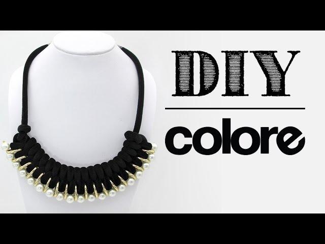 DIY Collar Gamuza Tubular Trenzada - Colore Accesorios