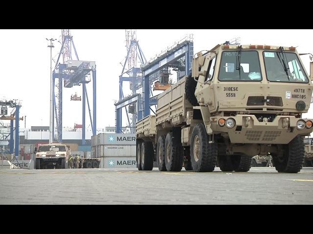 497th CSSB Equipment Arrives In Europe Operation Atlantic Resolve