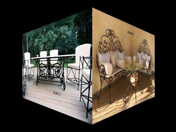 Кований набір стіл і стільці, кований набір меблів, ковані меблі, ковані вироби Львів