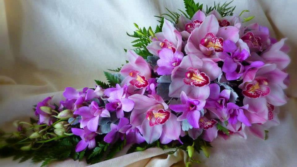 Красивые букеты орхидей картинки