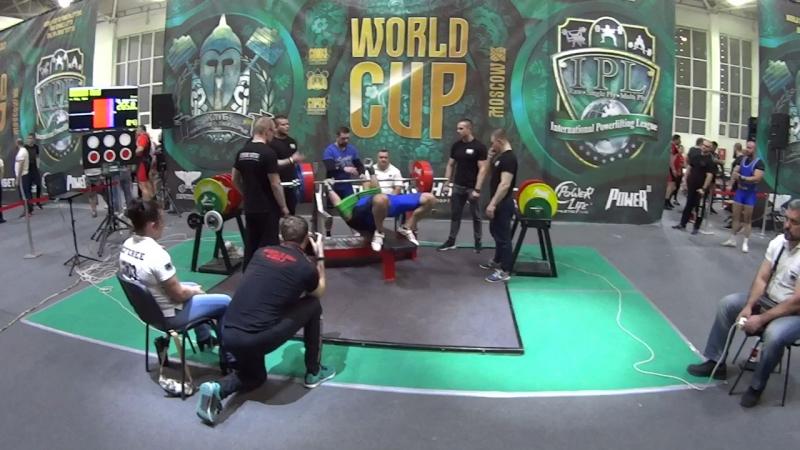 Силушин Павел жим лежа в софт экипировке 265 кг