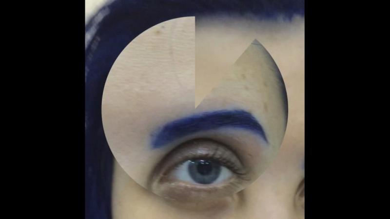 Моя постоянная клиентка Галя решила поэкспериментировать над цветом бровей а я только ЗА