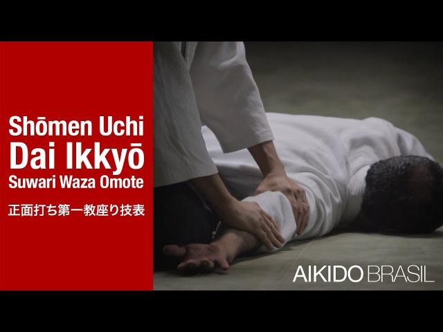 AIKIDO Technique | Shōmen Uchi Dai Ikkyō Suwari Waza Omote (正面打ち第一教座り技表)