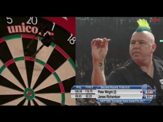 Peter Wright vs James Richardson (European Darts Grand Prix 2017 / Round 2)