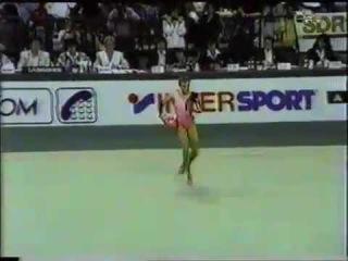 Oksana Kostina 1992 Europeans Ball finals routine