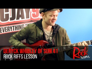 Deryck Whibley of Sum 41 Guitar Riffs Lesson