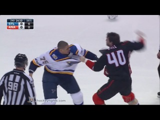 Ryan Reaves vs Jared Boll Jan 15, 2017