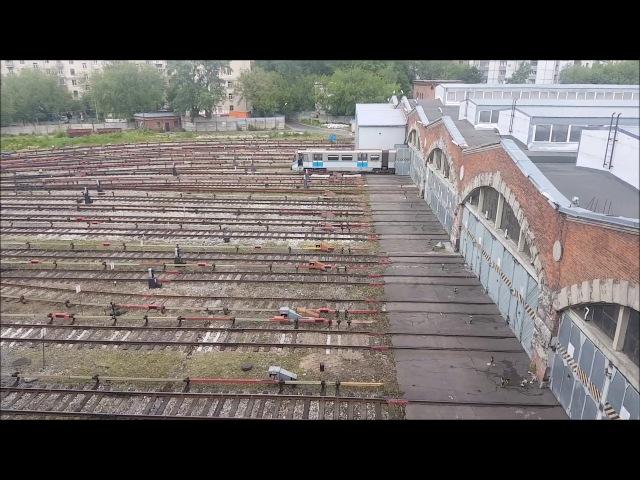Построение маршрута и маневры Электропоезда серии 81 740 741 Русич в Электродепо Измайлово