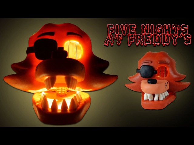 FOXY Bad Ending Mask Lamp TUTORIAL ➤ FNAF 3 ★ Porcelana fria Polymer clay ✔ Giovy's Hobby