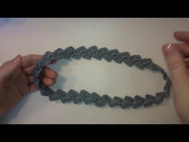 Тесьма косичка поясок Вязание крючком для начинающих Crochet Braid