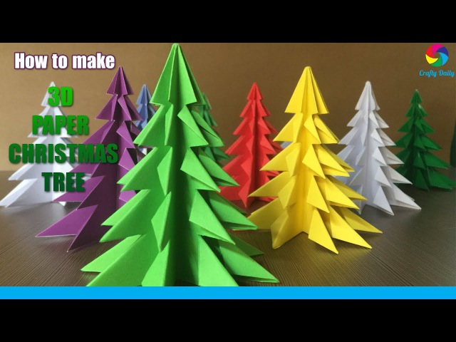 3D Paper Christmas Tree How to Make a 3D Paper Xmas Tree DIY Tutorial