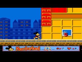 Mickey's Adventures in Numberland Денди - Прохождение (Приключения Микки Dendy, NES - Walkthrough)