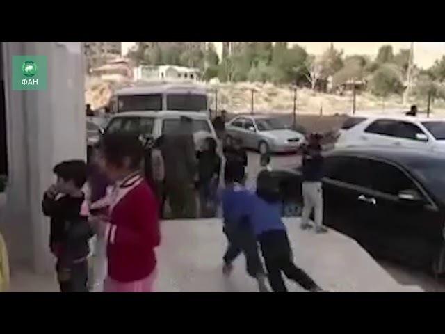Сирия в центре временного проживания для беженцев из Восточной Гуты дежурит военная полиция РФ