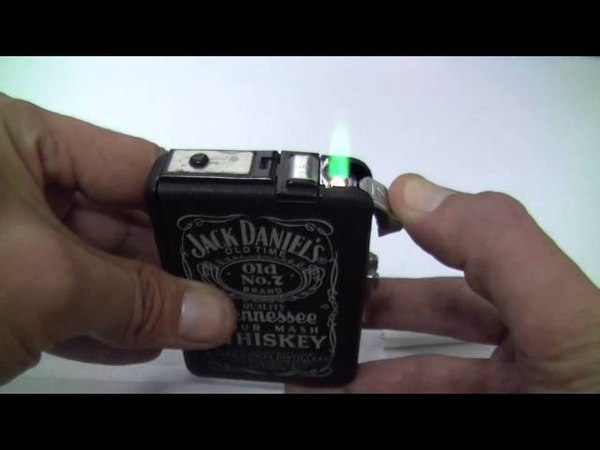 Ew Windproof Light King Automatic 2B jet flame Cigar Lighter Cigarette Case