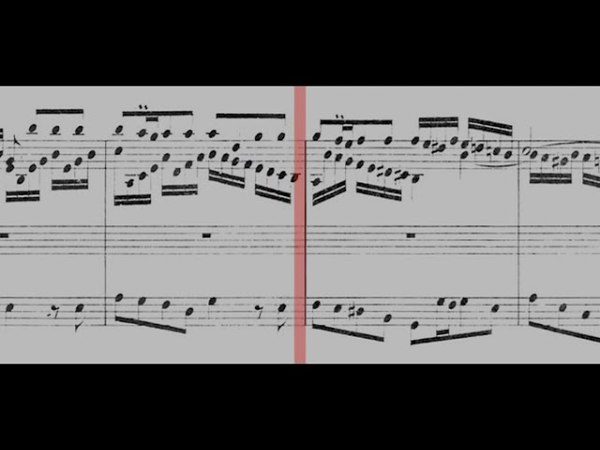 541 J S Bach Prelude and Fugue in G major BWV 541 Gerubach Scrolling