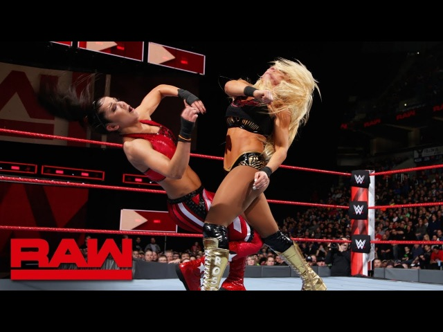 SBMKV Video Bayley rejects a hug from Sasha Banks after Absolution brawl Raw March 5 2018