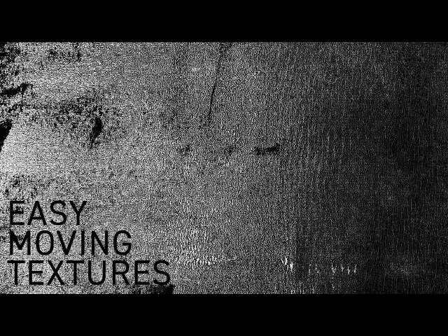The Easy Way to Create Moving Textures in After Effects