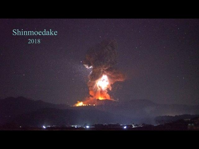 Explosive eruption of Shinmoedake volcano in Japan  新燃岳の爆発的噴火