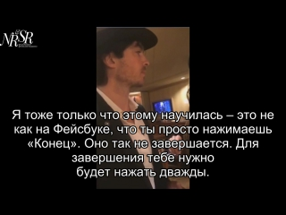 Ian and Nikki instagram live (rus sub)