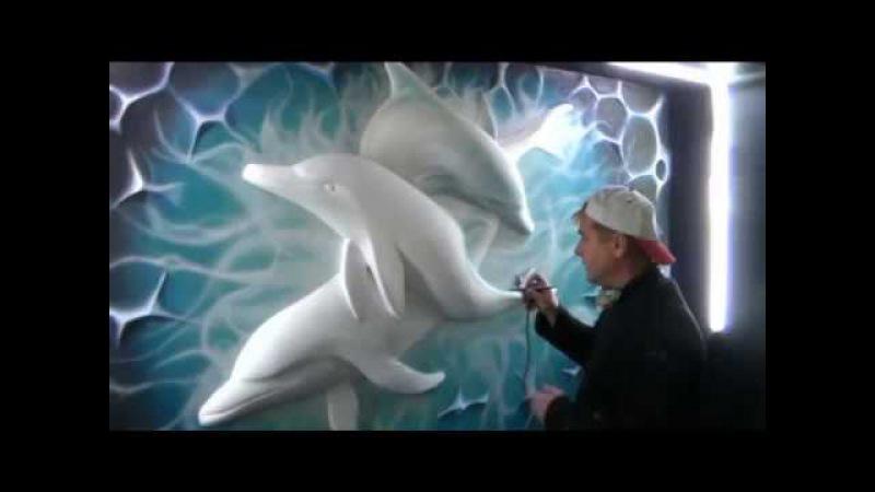 Барельеф Процесс изготовления горельефа дельфины
