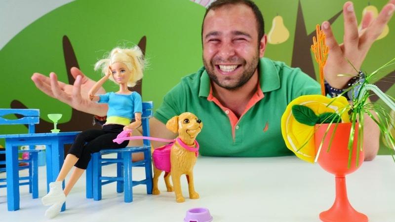 Barbie oyuncak videoları. Gerçek naneli limonata yapalım