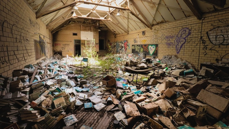Exploring Abandoned Middle School Filled With Textbooks