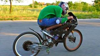 Забацал Сверх-Мощный Электро-Велосипед  Разогнал 100 кмч и чуть не влетел