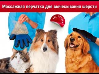 Уникальная массажная перчатка для снятия шерсти с домашних животных