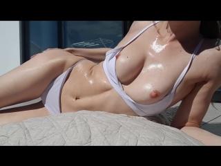Missalice_94 - oiled up sunbathing and flashing   miss alice - мисс алиса