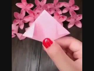 Красивая идея для творчества из бумаги.