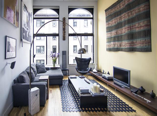 Как расставить мебель в длинной и узкой комнате, изображение №1
