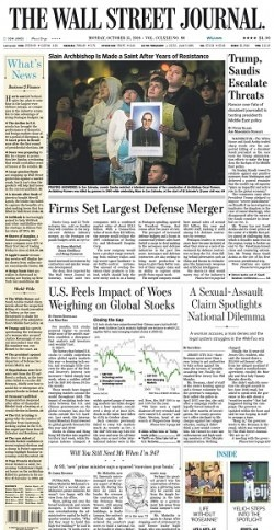 The Wall Street Journal - October 15, 2018