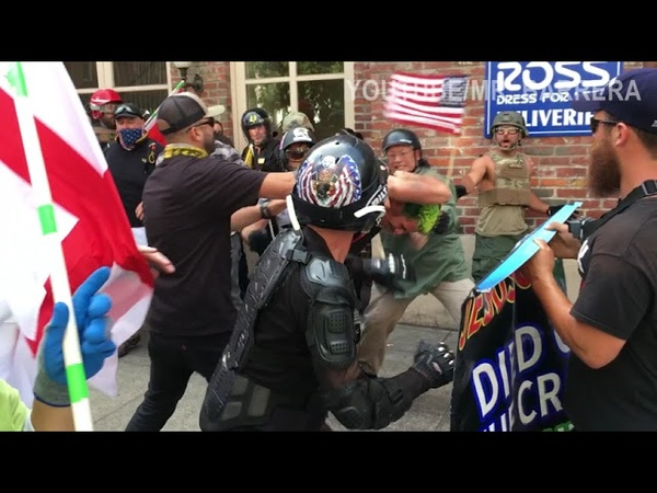 MASSIVE Antifa Riot in Portland: Eggs, Bricks, M80s, More
