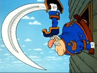 """Остров Сокровищ Капитан Смоллетт """"Вперёд в рукопашную!"""""""