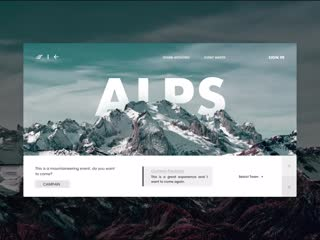 Tourism mountaineering activity page-web-animation by jianggm