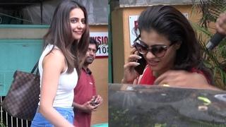 Kajol & Rakul Preet Singh Spotted Outside A Salon In JUHU